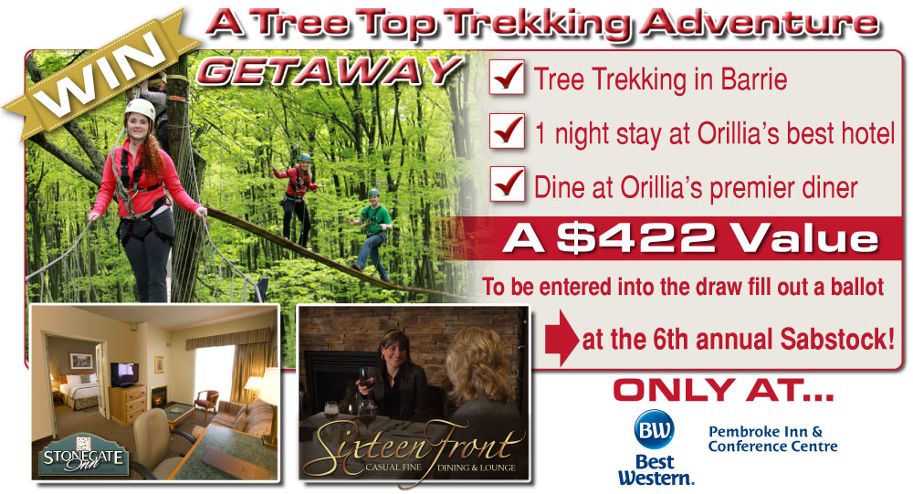 Win a $422 Tree Top Trekking Getaway