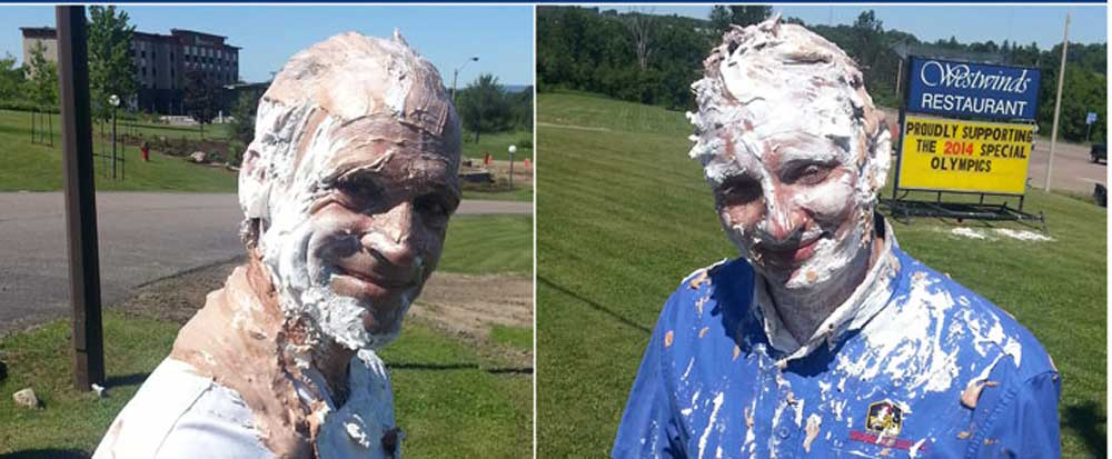 Pie Throwing to Raise funds for the Special Olympics