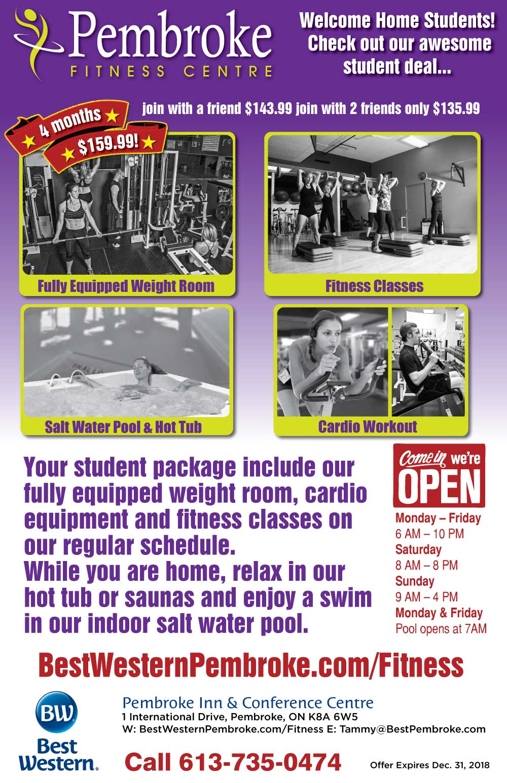 Students Save on Fitness Membership Rates
