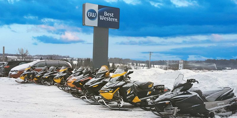 A Snowmobilers home away from home