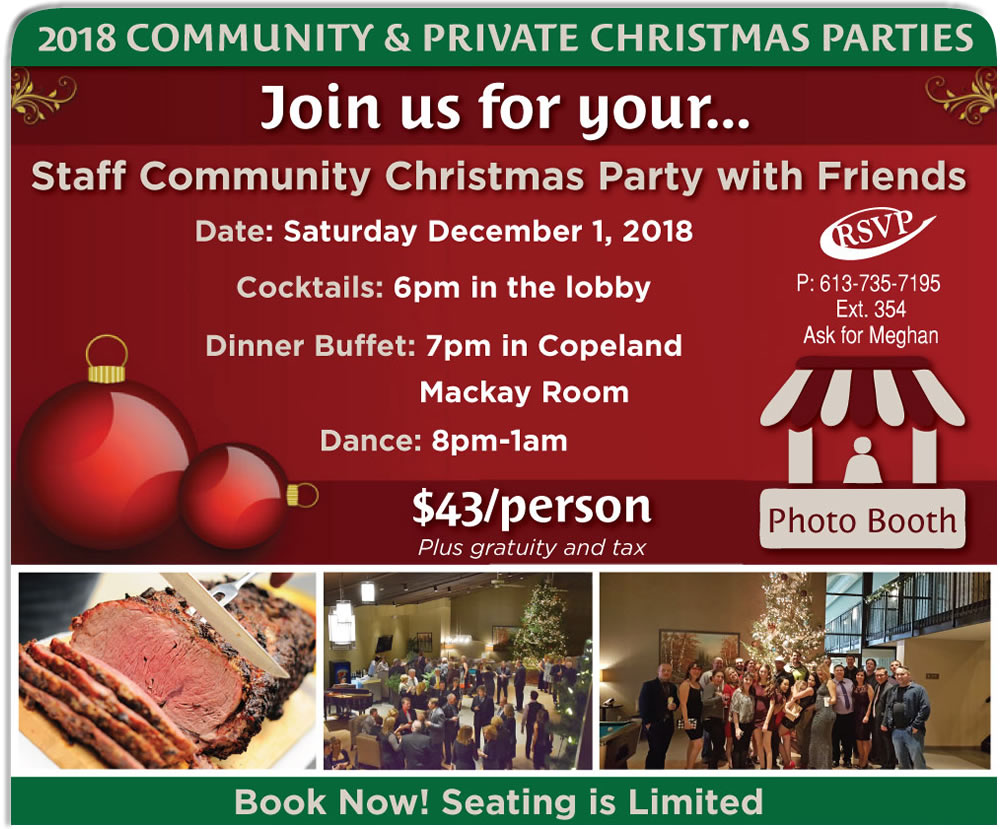 Fully Catered Private Christmas Parties in Pembroke [Expired]