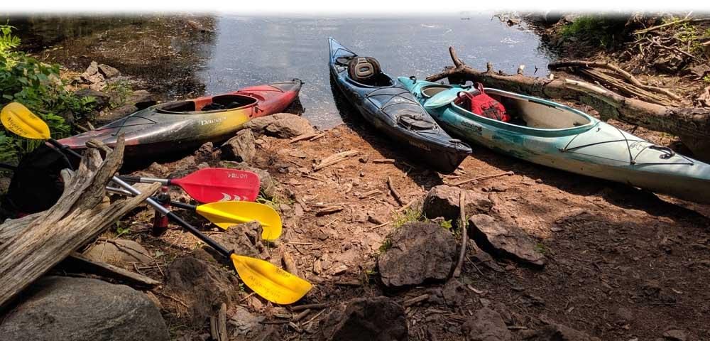 Barron-Canyon-parked Kayaks
